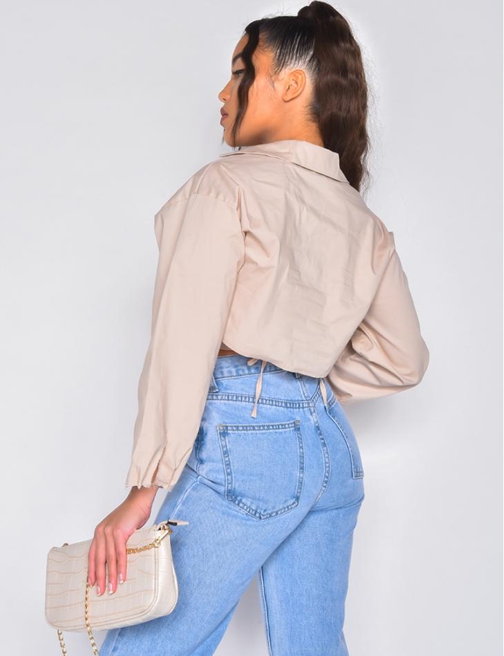 Chemise courte à nouer