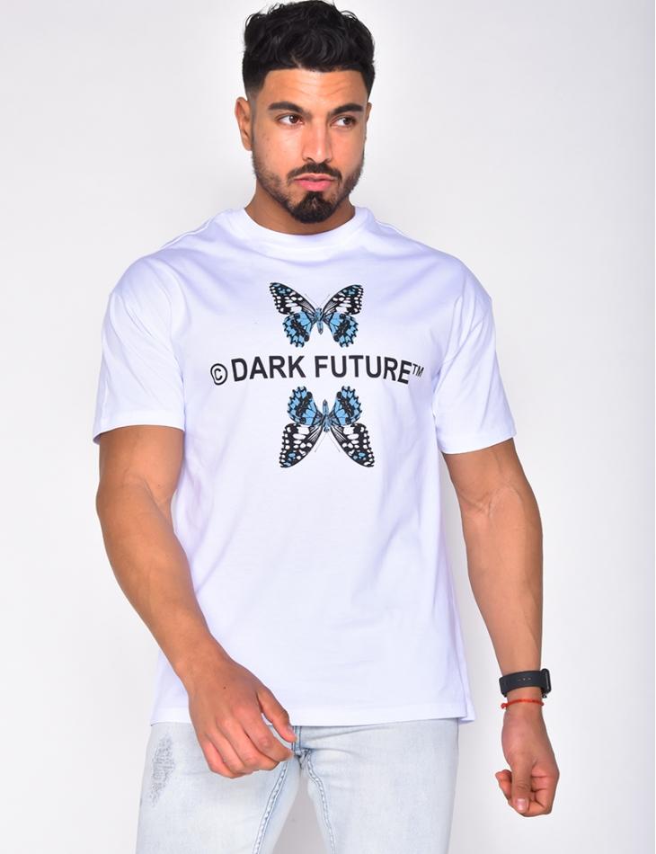 """T-shirt """"Dark Future"""" avec papillons"""