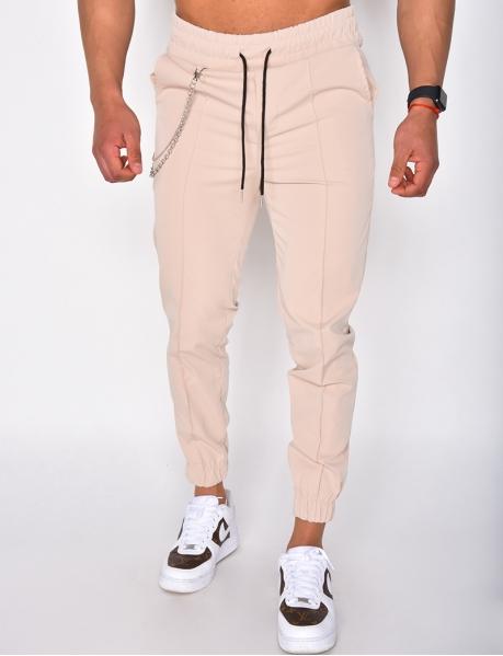 Pantalon à chaîne