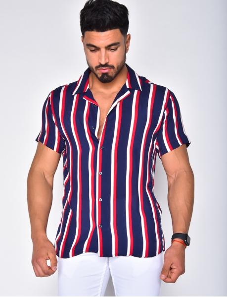 Chemise manche courtes à rayures