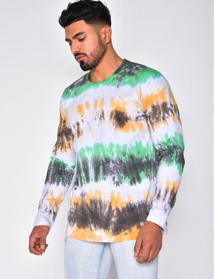T-shirt manches longues tie and dye