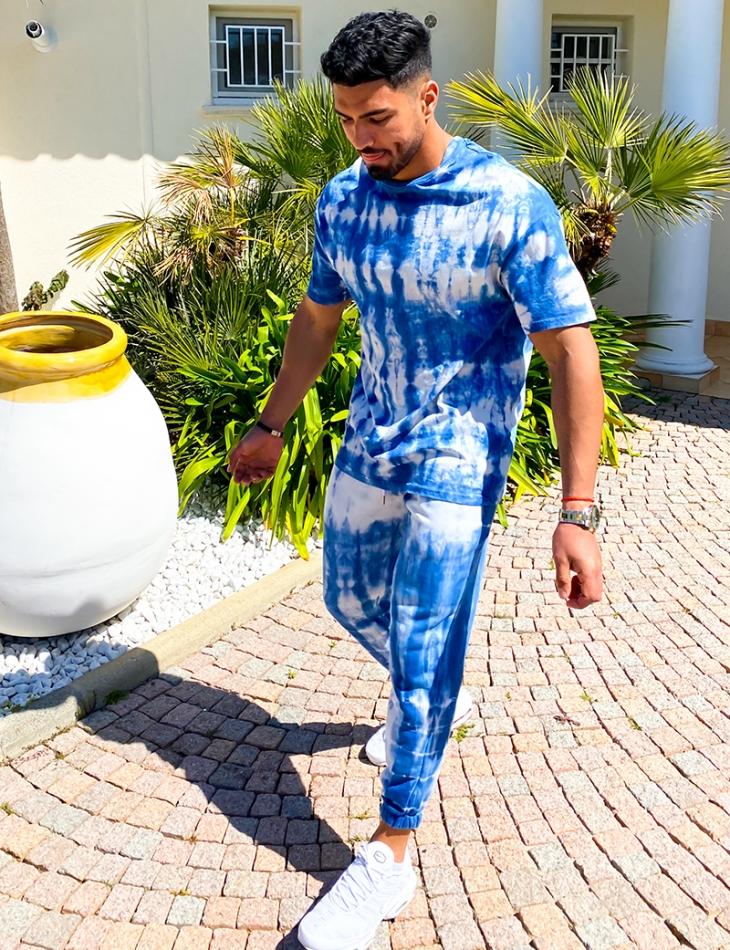 Ensemble t-shirt et jogging tie and dye
