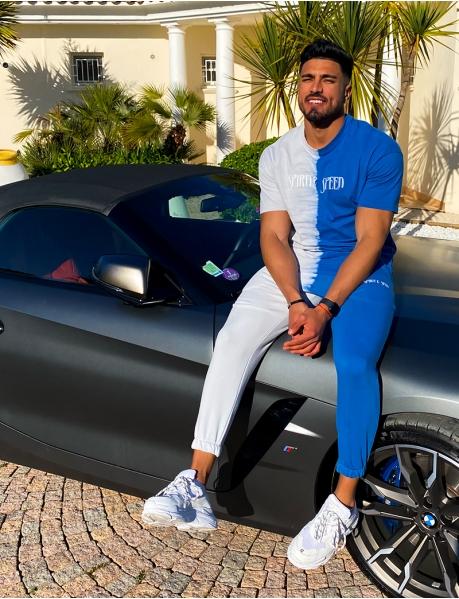 Bi-colour T-shirt and trouser set