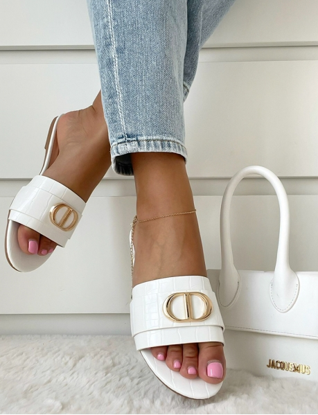 Faux Leather Sliders