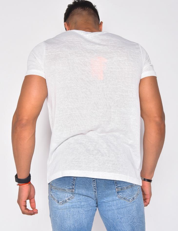 T-shirt homme en maille fine