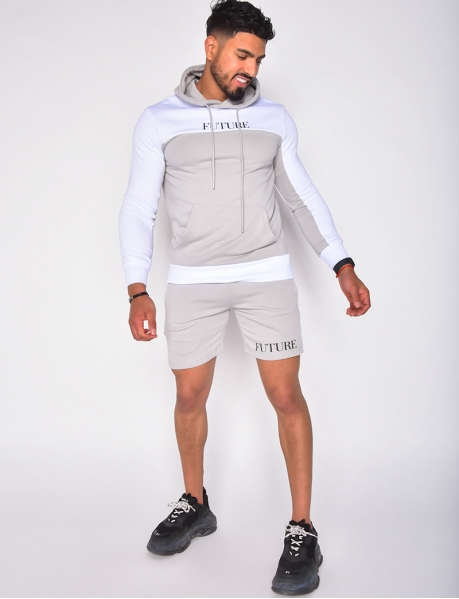 """Future"" hoodie and shorts set"