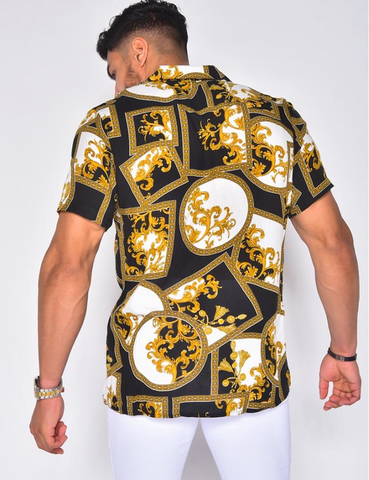 Chemise manche courtes motif baroque