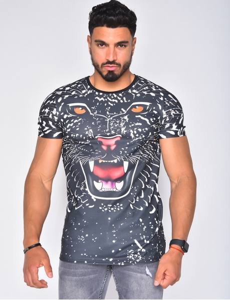 T-shirt motif panthère