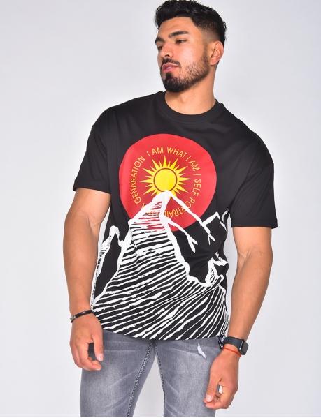 T-shirt motif soleil