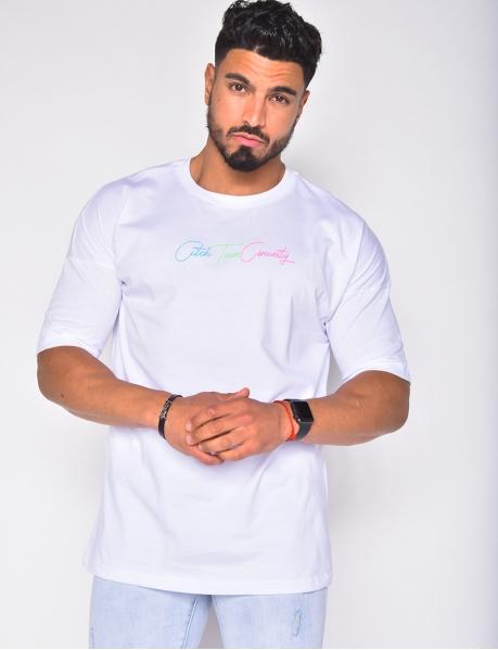 T-shirt homme à phrase fluo
