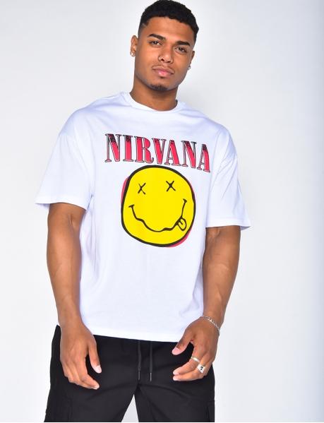 T-shirt homme Nirvana avec un smiley