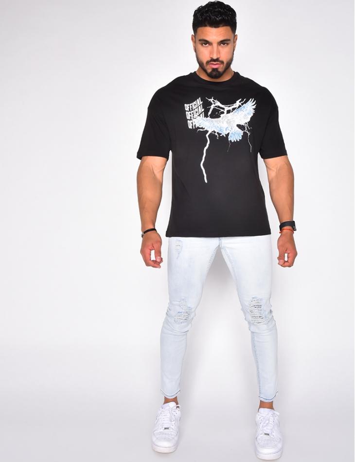 """T-shirt """"OFFICIAL"""" motif aigle"""
