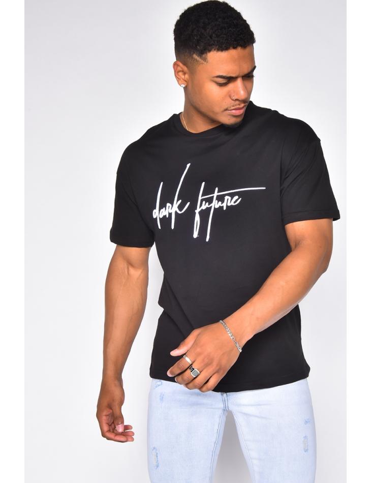"T-shirt ""Dark future"" brodé"
