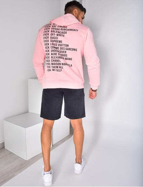 Kapuzen-Sweatshirt mit Aufschriften