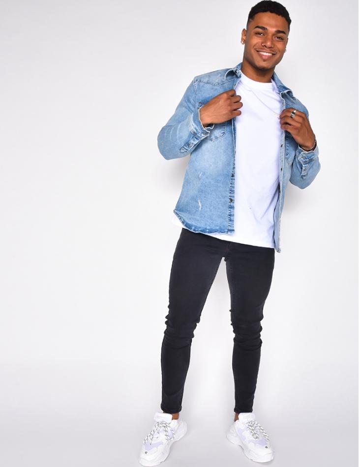 Chemise en jeans