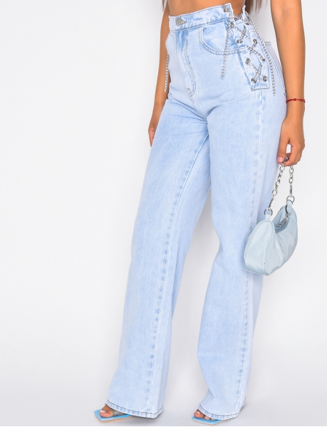 Jeans avec chaînes