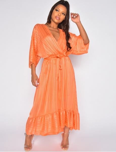 Fluid iridescent dress