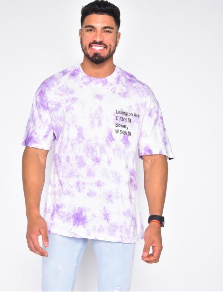 T-shirt homme à tâches
