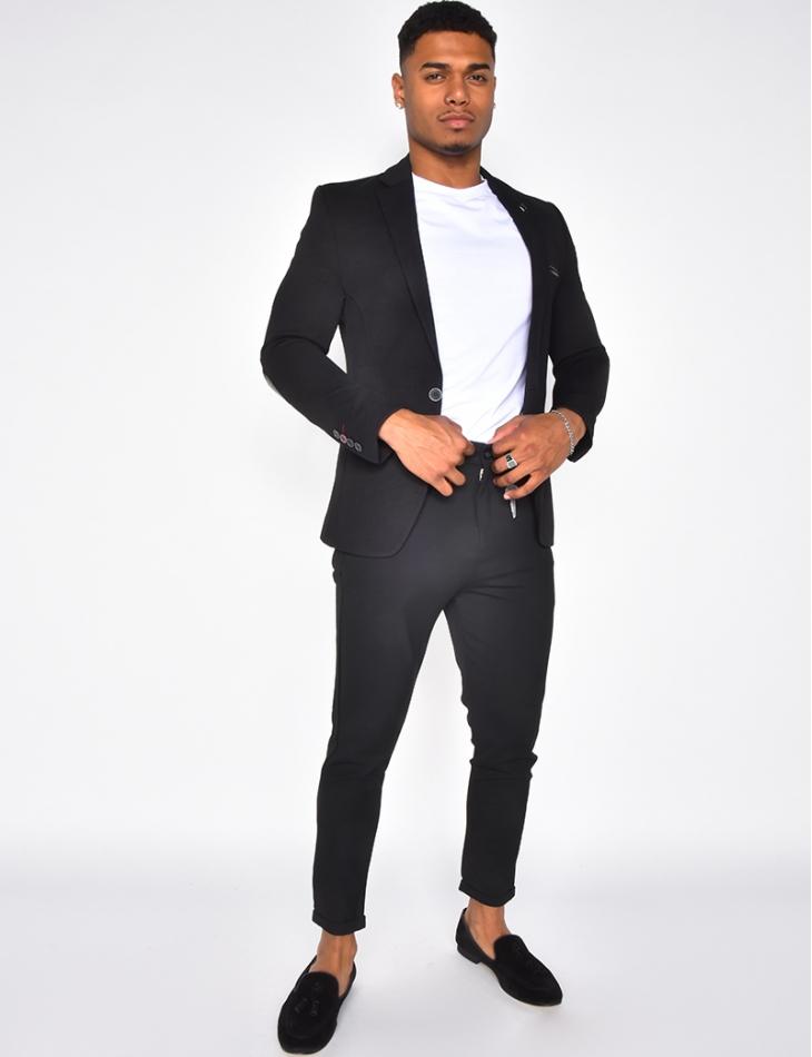Veste de costume bi-matière