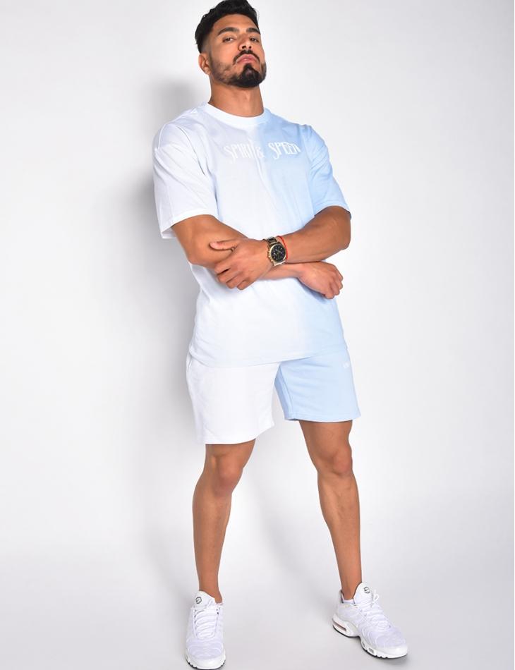 Ensemble short et t-shirt bi-color