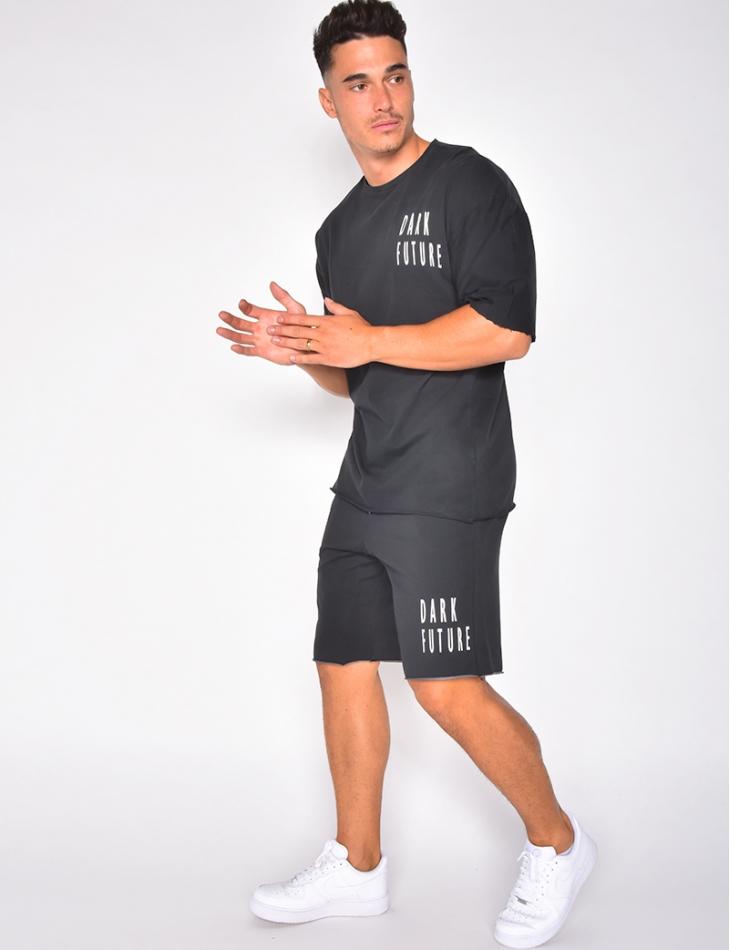 "Ensemble t-shirt et short ""Dark future"""