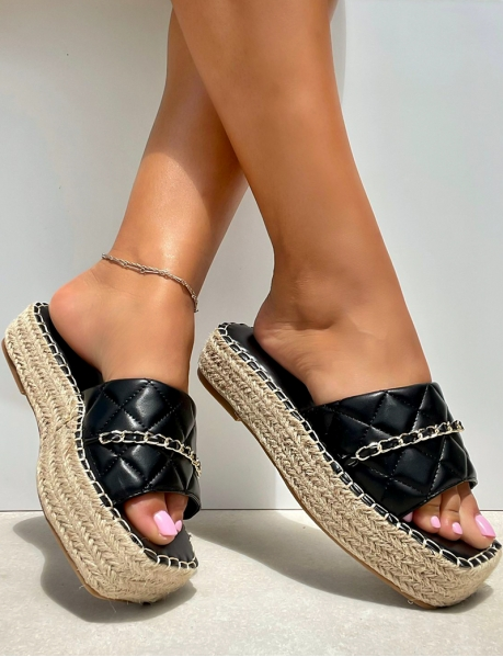 Quilted wedge espadrilles