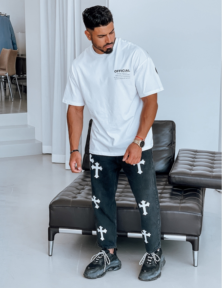 Jeans motif croix