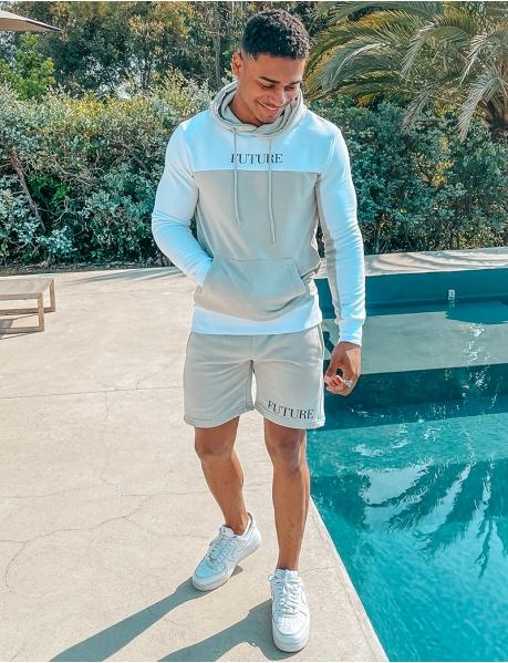 """Future"" hoodie and shorts set"