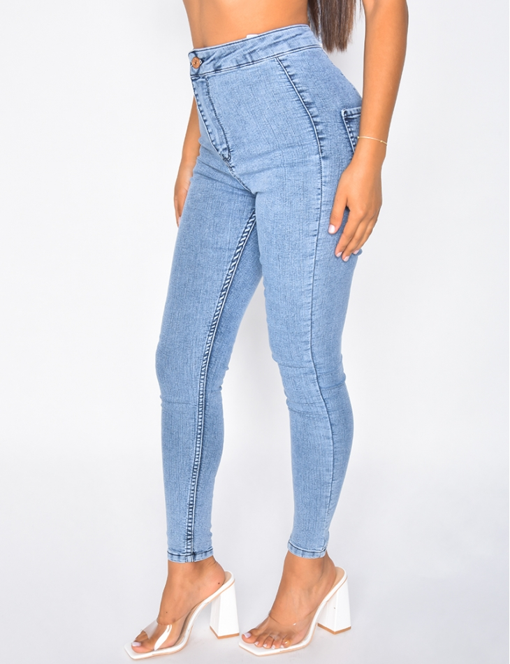 Jegging slim taille haute ultra stretchy