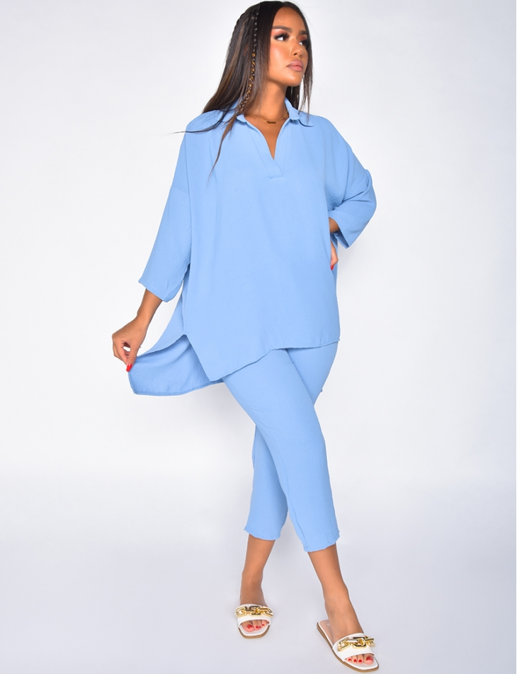 Oversized Shirt and Trousers Co-ord