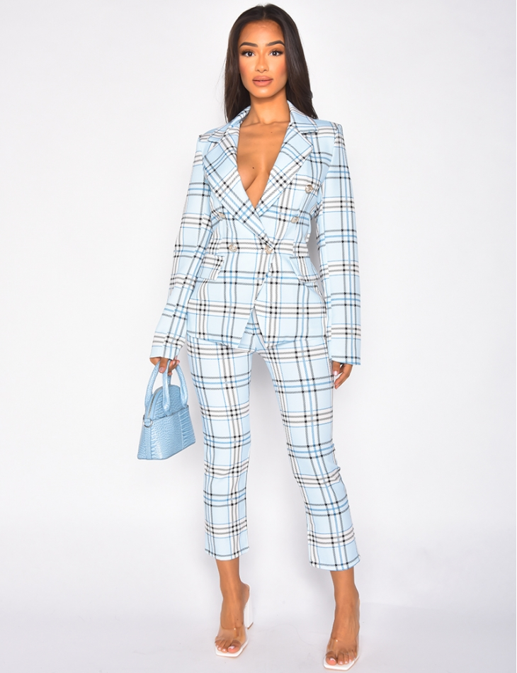Striped blazer and trousers