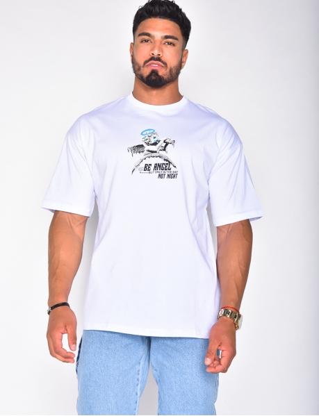 T-shirt homme avec tête d'ange