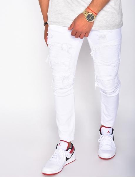 Jeans effet motard destroy
