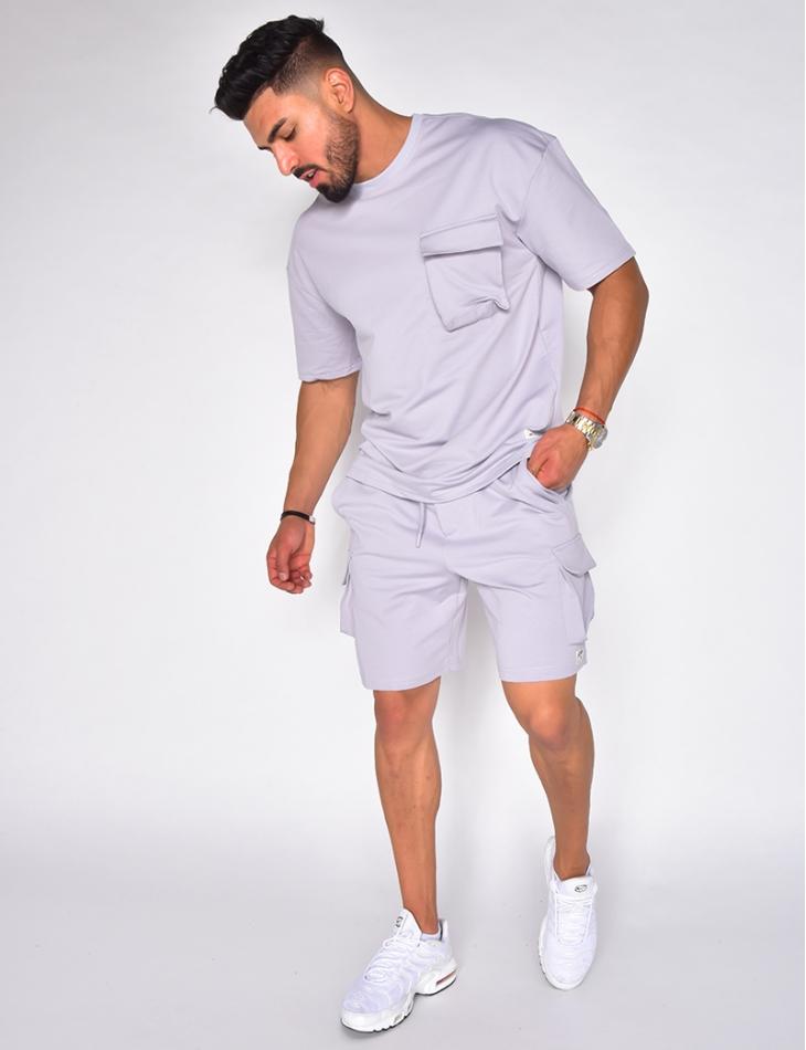 Ensemble short et t-shirt à poches