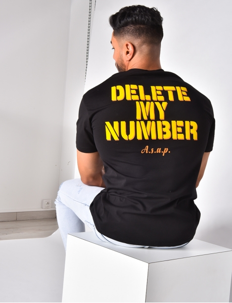 """T-shirt """"Delete my number"""""""