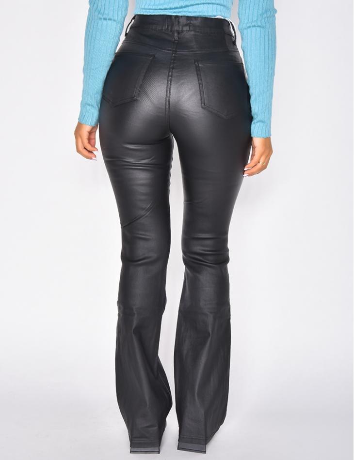 Jeans en simili patte d'eph
