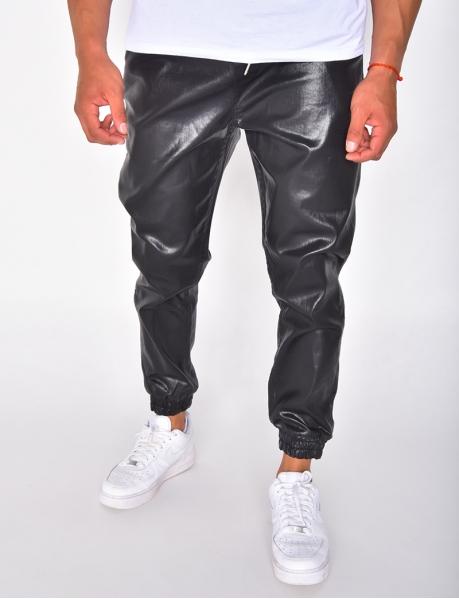Pantalon cargo huilé irisé