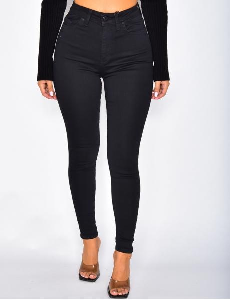 Jeans skinny noir taille haute