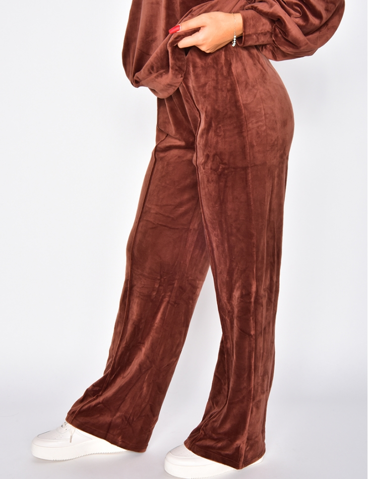Pantalon large tout doux en velours