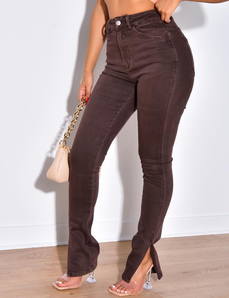 Jeans skinny à fentes