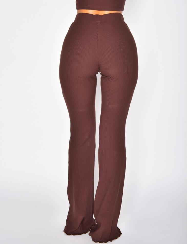 Pantalon côtelé pattes d'eph