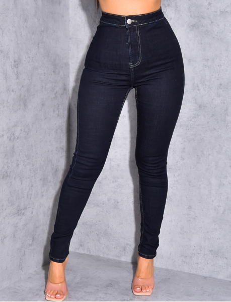 Jeans taille haute slim
