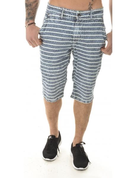 Men's Striped Bermuda Shorts