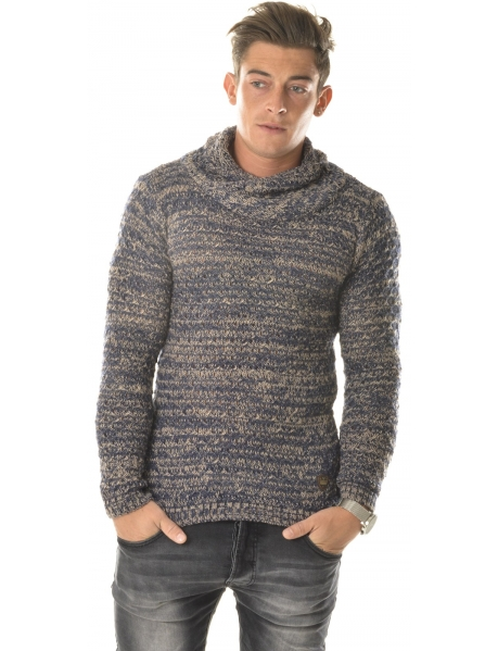 Exclusive Jumper with Crossover Shawl Neck