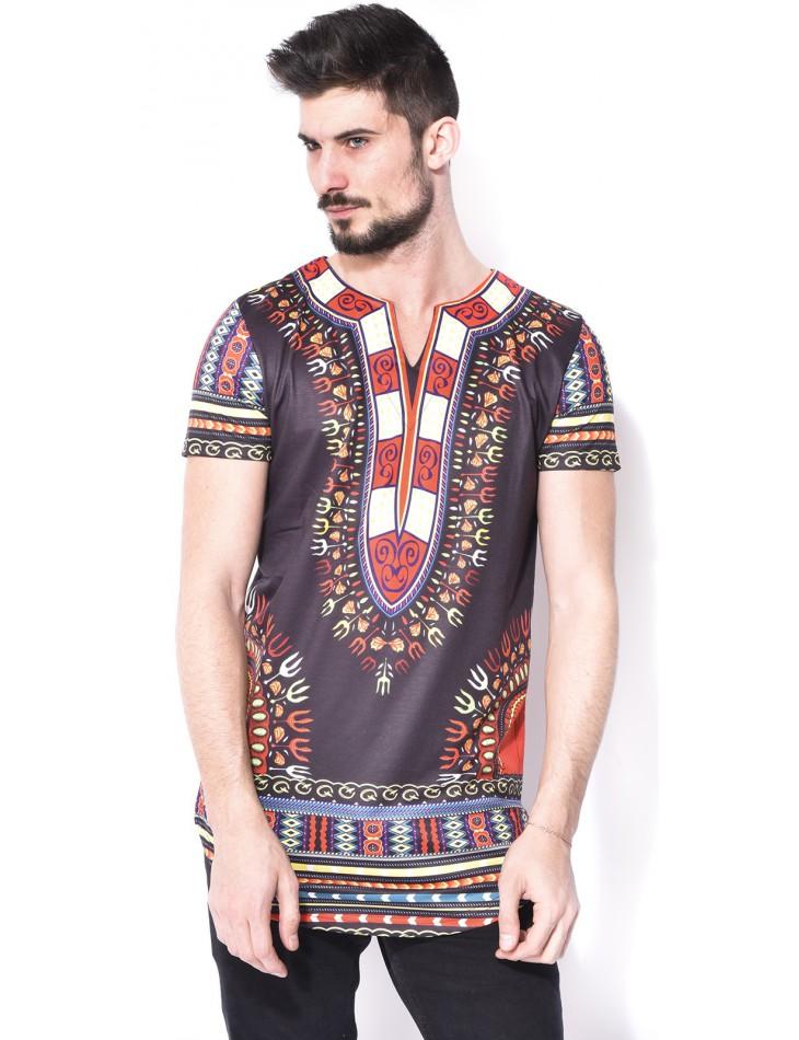 T-shirt John H à motifs ethniques