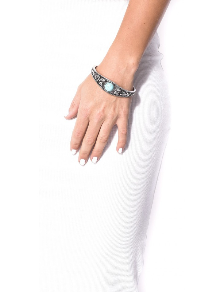 Bracelet argent à pierre turquoise