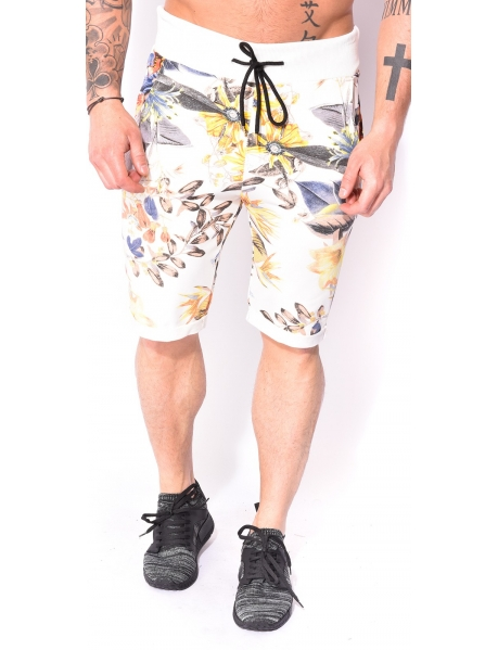 Men's Bermuda Shorts with Flowers