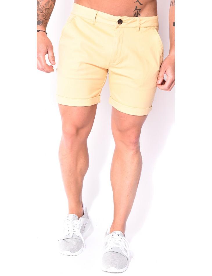 Bermuda homme chino jaune